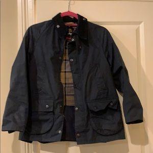 Blue Barbour jacket